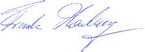 Signatur F. Honsberg